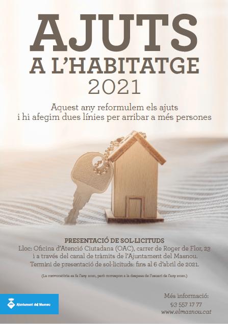 AYUDAS A LA VIVIENDA 2021 (AYUNTAMIENTO DEL MASNOU)