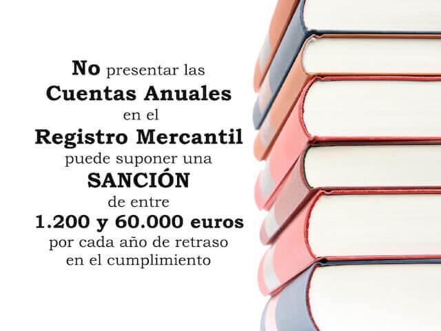 Sanciones a las sociedades por no depositar las cuentas anuales en el Registro Mercantil